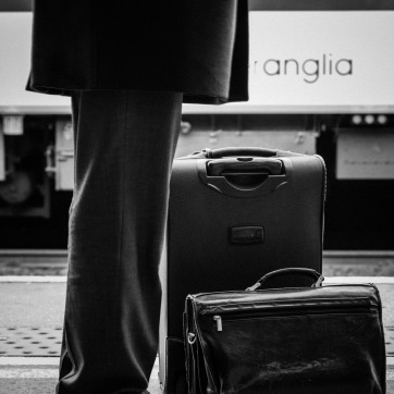 A gentleman waiting for his train