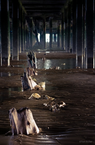 Under the pier; Walton-On-The-Naze