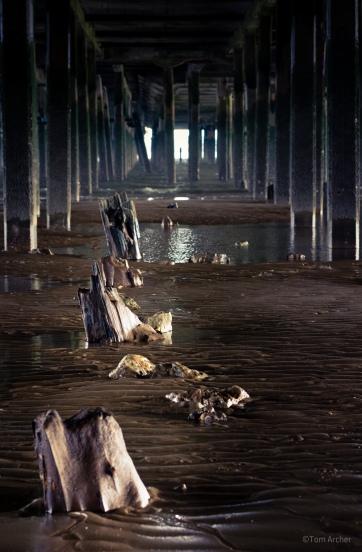 Under the pier; Walton-On-The-Naze