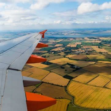 The East of England as seen from our EasyJet flight